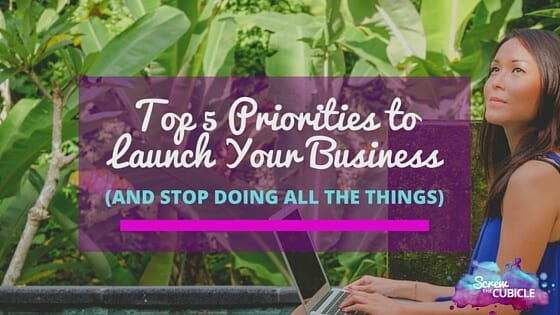 Top 5 Priorities to Launch Your Business (and stop doing ALL the things)