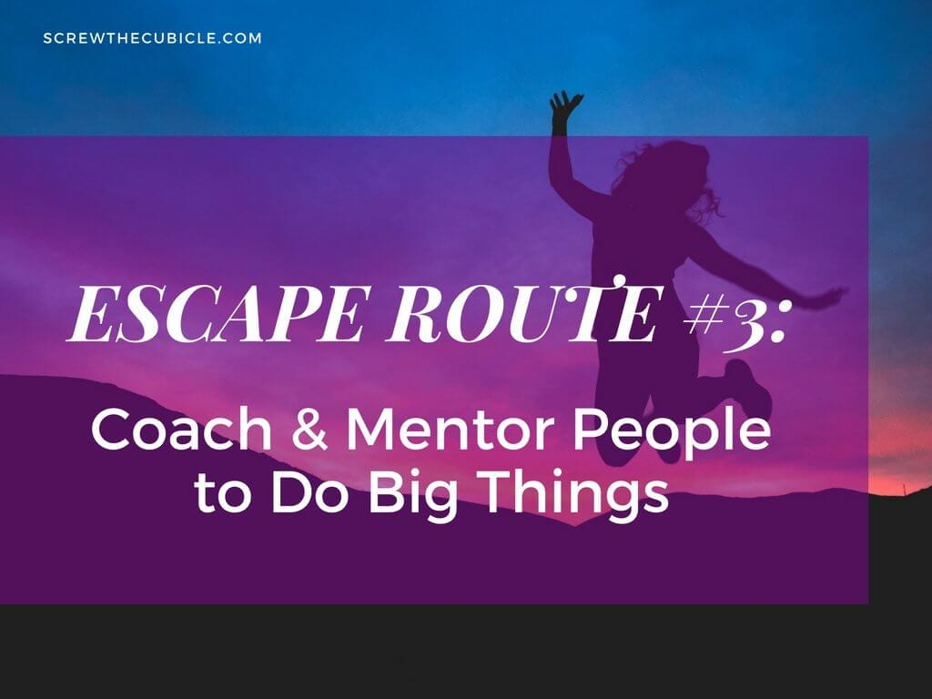 Coach mentor people to do big things