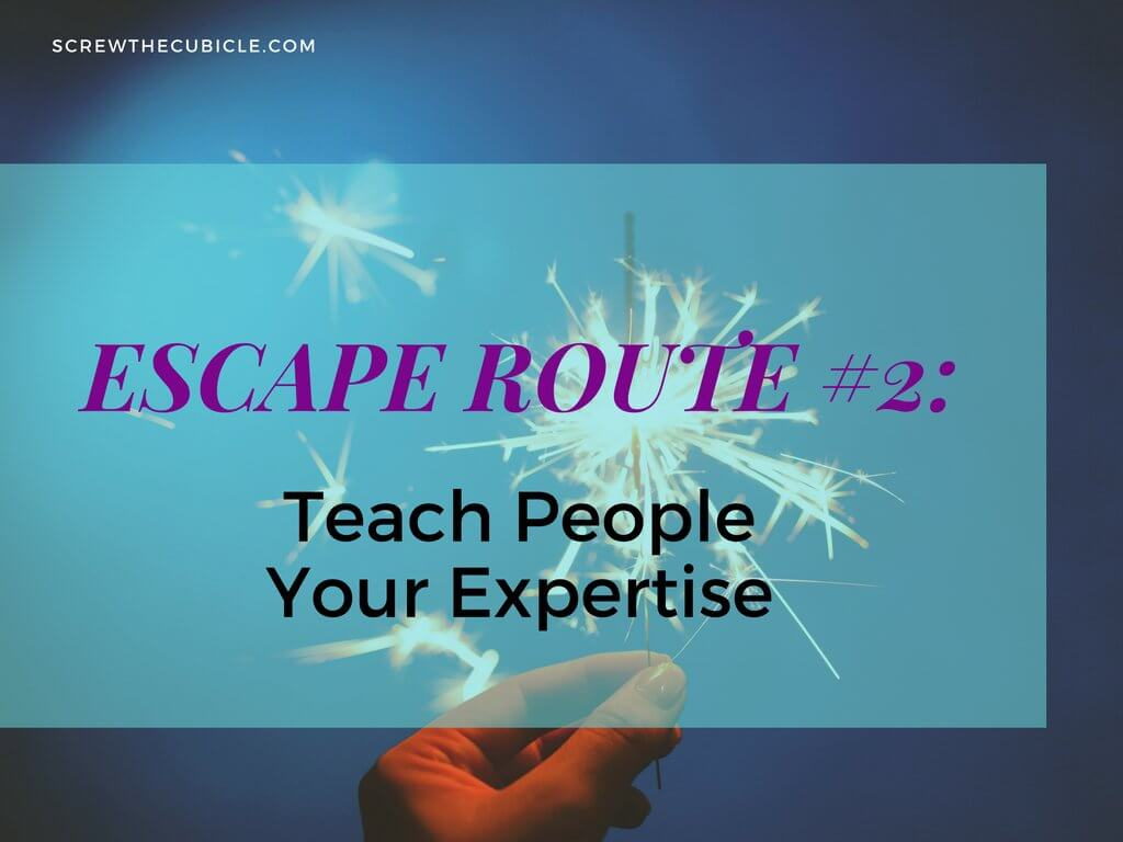 Teach people your expertise