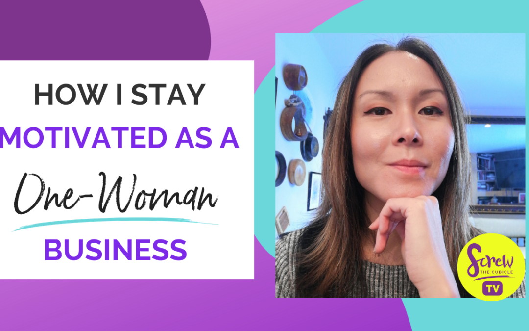 How I Stay Motivated As A One-Woman Business